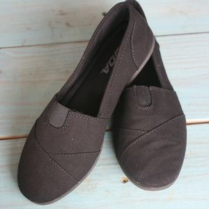 OBJI Flat Shoes Linen Canvas Slip On Loafers